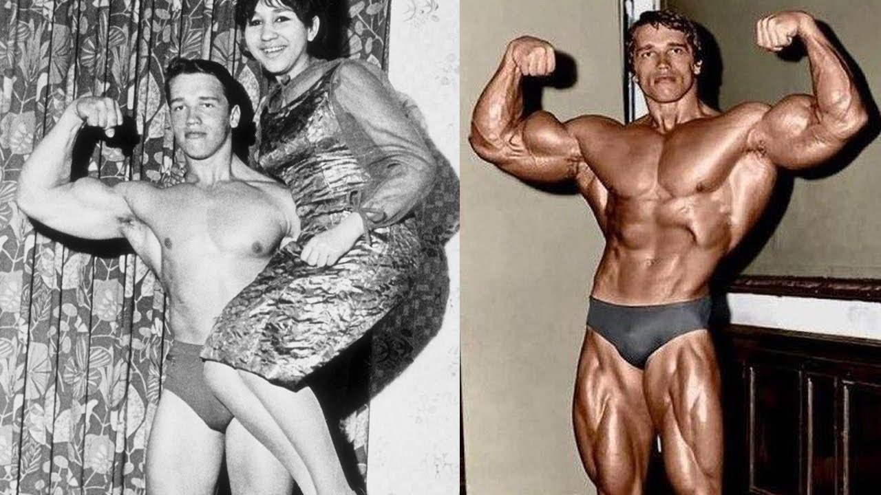 Arnie young and then massive